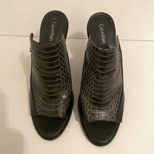 Calvin Klein Mules, size 8.5